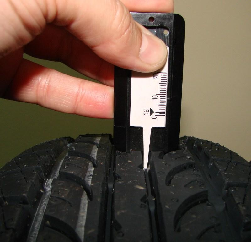 сколько мм новый протектор стирке