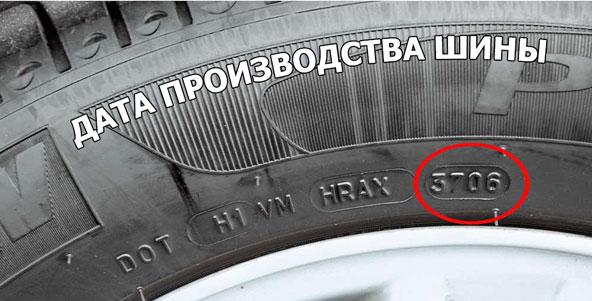 Дата производства шин
