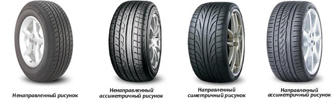 Виды протекторов шины