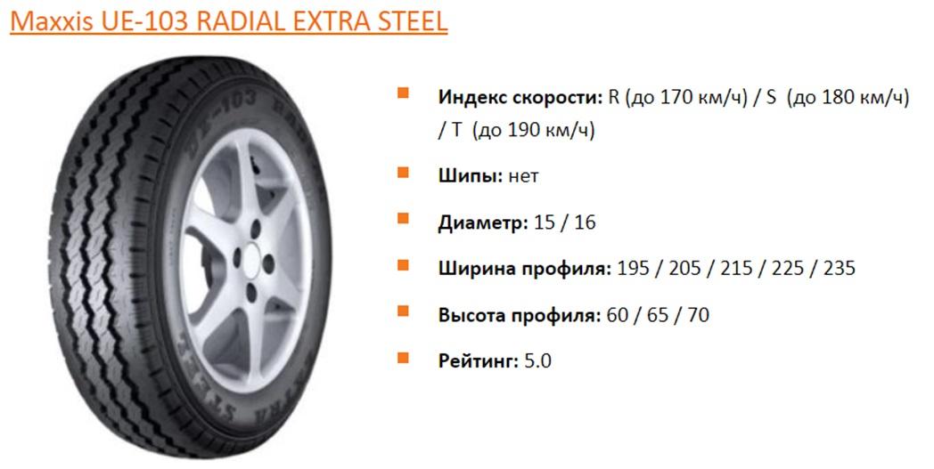 Maxxis UE-103 RADIAL EXTRA STEEL