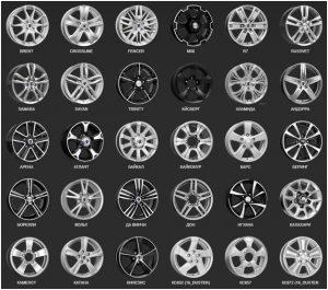 Наиболее популярные модели колес на 16